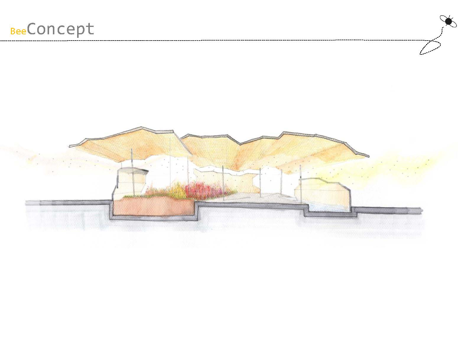 "the ""beBee pavilion"" designed by IMLA students Zuzanna Banaś and Irene Jackson Gil - Presentation page 3"