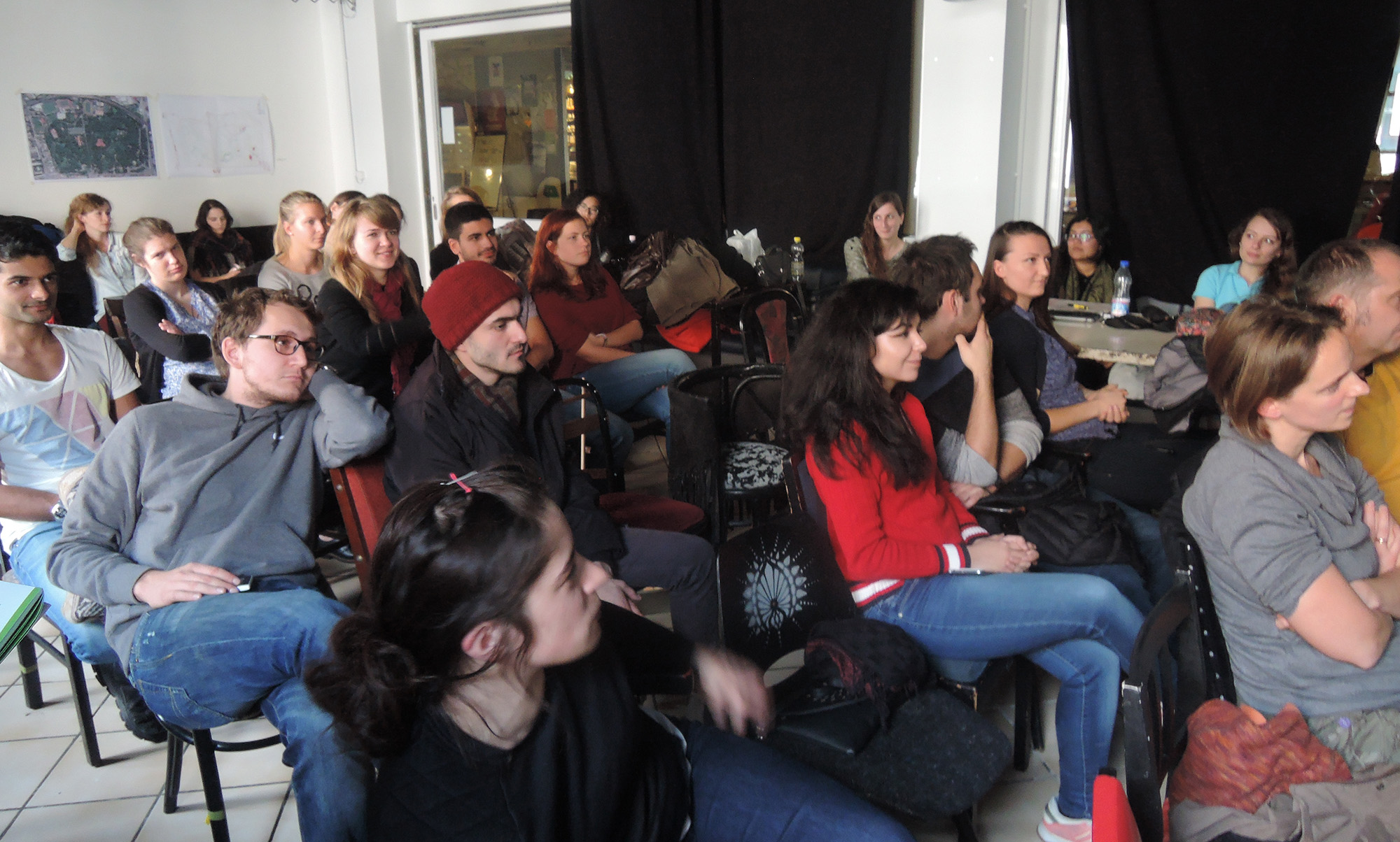 The audience of the interim presentation in Budapest
